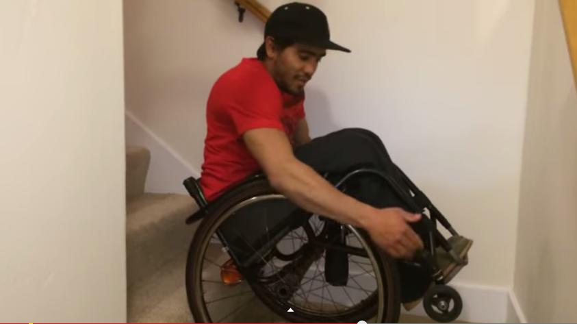 S vozíkem po schodech nahoru i dolů