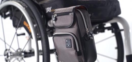 Invalidný vozík s doplnkovou taškou Quokka
